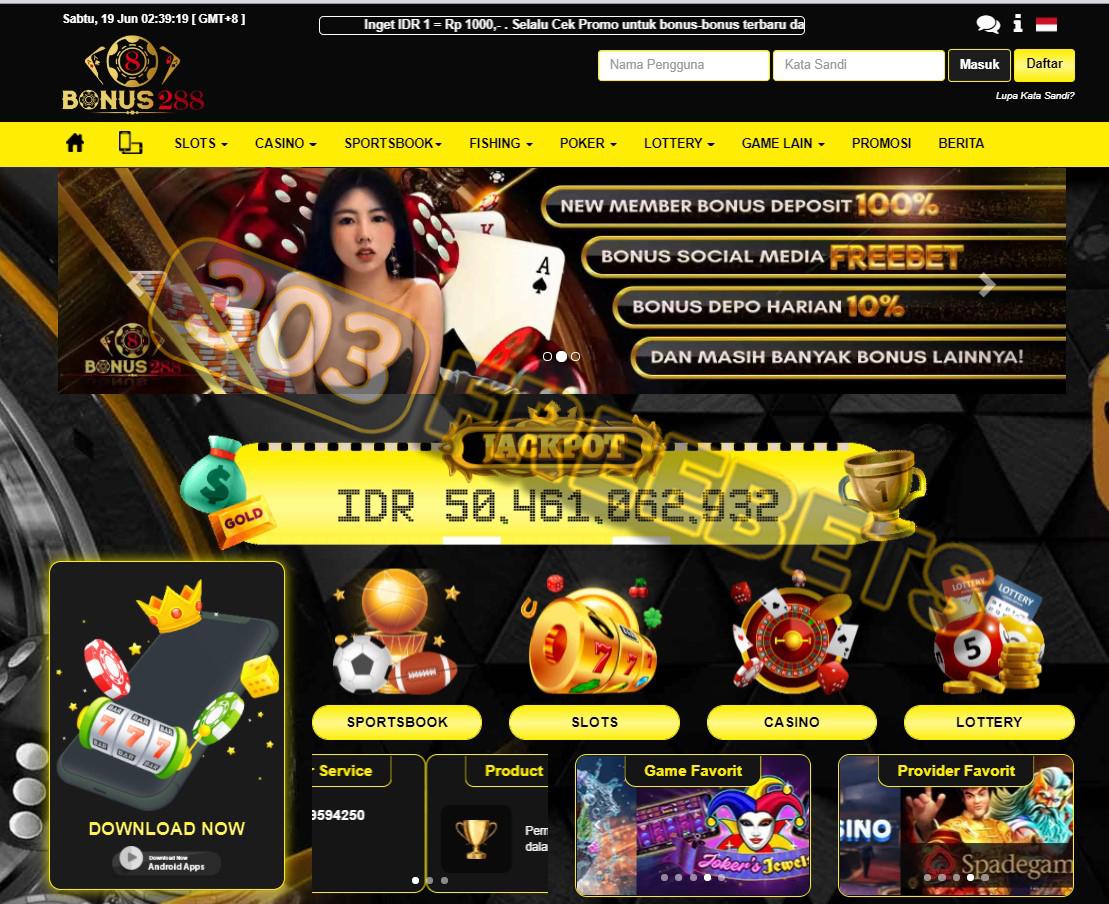 Situs BONUS288 Freebet Gratis Slot Rp 5.000 Tanpa Deposit #1
