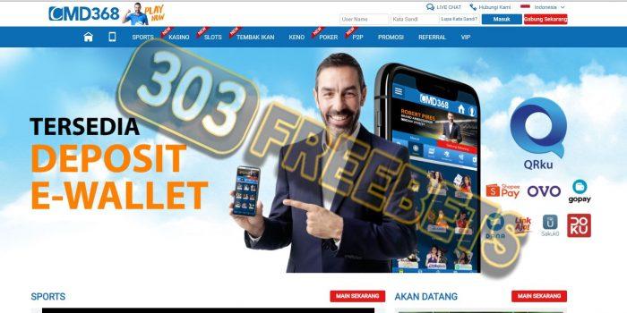 Situs CMD368 Freebet Gratis Bola Rp 100.000 Tanpa Deposit #1
