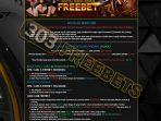 BONUS288 FREEBET GRATIS TANPA DEPOSIT Rp 10.000